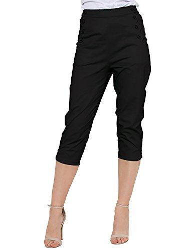 Voodoo Vixen -  Pantaloni  - Pantalone capri - Donna nero Large