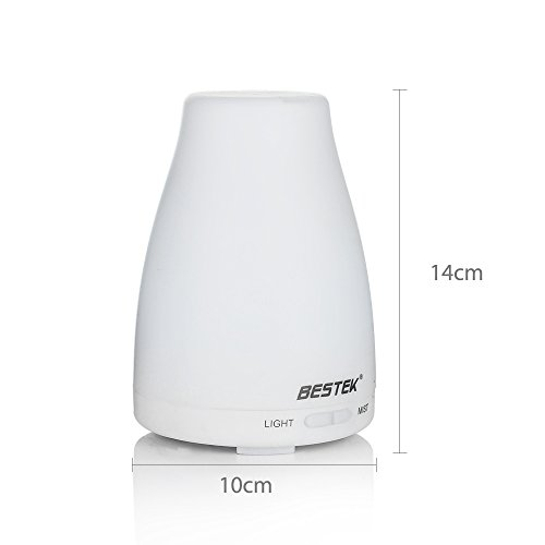 BESTEK-Umidificatore-ad-Ultrasuoni-Diffusore-di-Aromi-Diffusore-di-Oli-Essenziali-7-colori-LED-120ML-BTODLM008-IT