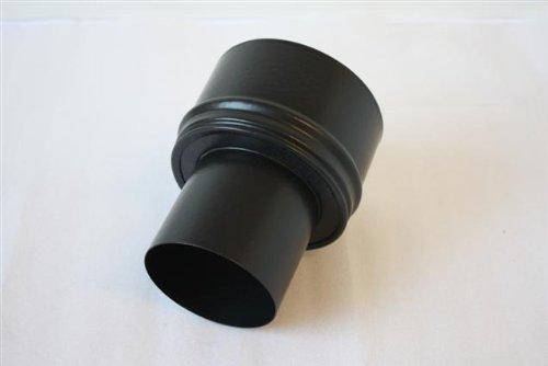 rauchrohr ofenrohr pellet reduzierung schwarz matt 80 130 0 6mm stark spar baumarkt. Black Bedroom Furniture Sets. Home Design Ideas