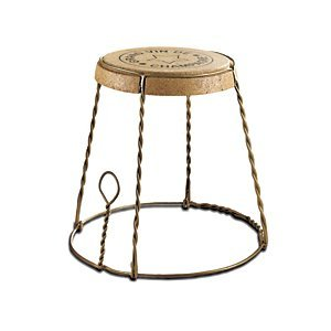 Champagne Cork Wire Cage Side Table front-639149