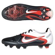 CTR 360 Maestri II FG Football Boots Gunmetal/White/Red - size UK Size 7 (Europe Size 41)