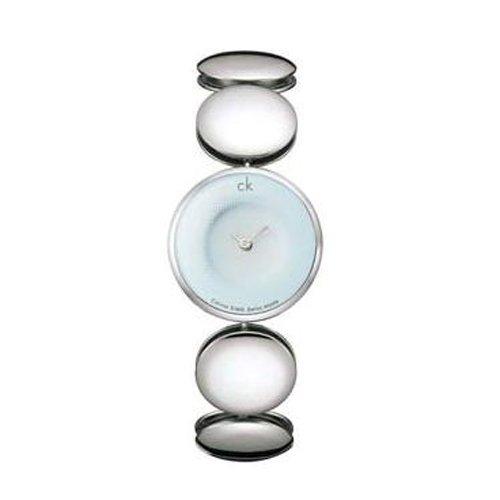 El reloj de las mujeres de Calvin Klein plata/azul claro K3623751