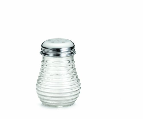 Tablecraft BH4 Beehive Cheese/Pepper Shaker with Chrome Plated Top, 6-Ounce (Case of 12)