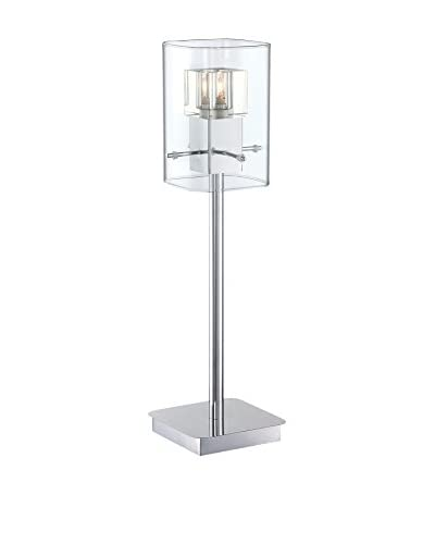 Lite Source Aida Table Lamp, Chrome/Clear