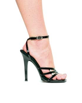 508 Trinity, 5 Inch Stiletto Heel Sandal With Rhinestones, by Ellie Shoes