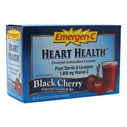 Emergen C Black Cherry Heart Health Fizzy Drink Mix, 1000 Mg - 30 Packet Per Pack