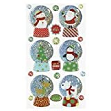 Sticko Whimsical Christmas Snowglobe Sticker