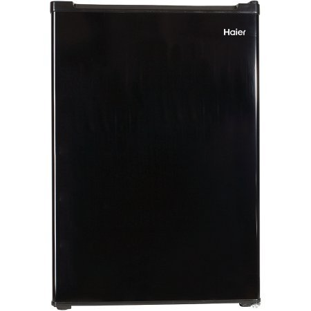 Haier 3.3 cu ft Refrigerator, Black, Features 2 interior glass shelves (Haier 2 Door Fridge compare prices)