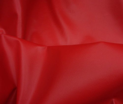 Red 2 Way Stretch Upholstery Faux Leather Vinyl Fabric Per Yard (Vinyl Fabric Upholstery Red compare prices)