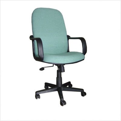 Innovex C1057F70 Ergonomic High Back Task Chair with Arms in Green Fabric