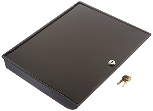 Buddy Products Coin and Bill Tray with Metal Security Lid, 11.5 x 2 x 14.375 Inches, Black (0544-4) (Cash Register With Lock compare prices)