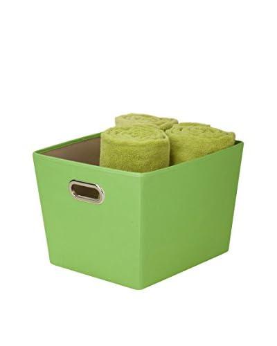 Honey-Can-Do Medium Decorative Storage Bin with Handles, Green