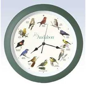 """Audubon Singing Bird Clock - 13"""""""