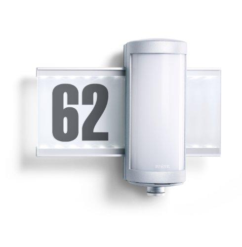 Steinel-Hausnummern-Leuchte-L-625-LED-mit-155-Lumen-Eingangs-Beleuchtung-mit-360-Passiv-Infrarot-Bewegungssensor-und-max-8-m-Reichweite-Inkl-Hausnummern-Bogen-003746Energieklasse-A