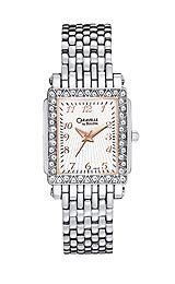 Caravelle Crystal Silver White Dial Women's Watch #43L127