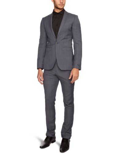 French Connection Arbus Pow Single Breasted Men's Blazer Charcoal Melange C42IN