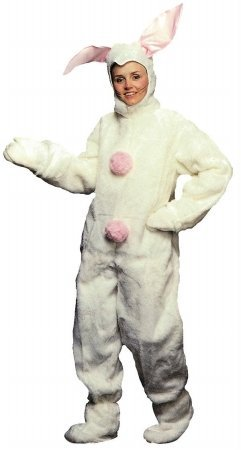 Costumes For All Occasions Ad74 Bunny Suit Men Xlarge White
