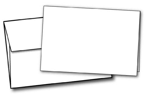 80lb White Half Fold Greeting Cards & Envelopes - Paper Measures (11