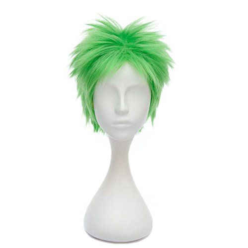 12 Inches/30cm Short Layered Unisex Fashion Anime Cosplay Party Wig+Cap (Lady Zoro)