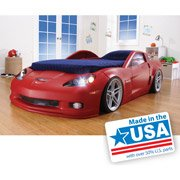 Step2 Corvette Toddler to Twin Bed RED with bonus toddler mattress!