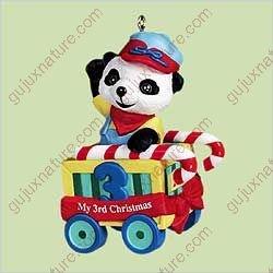 1 X Child's Third Christmas - Bear 2004 Hallmark Ornament QXG5764
