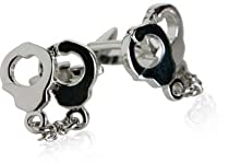Police Silver Handcuff Cufflinks with Gift Box