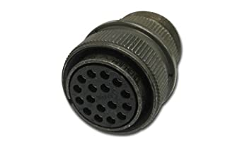 Amphenol Industrial MS3106A14S-2S Circular Connector Socket, General Duty, Non-Environmental, Threaded Coupling, Solder Termination, Straight Plug, 14S-2 Insert Arrangement, 14S Shell Size, 4 Contacts