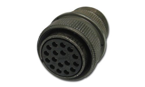 Amphenol Industrial MS3106A10SL-4S Circular Connector Socket, General Duty, Non-Environmental, Threaded Coupling, Solder Termination, Straight Plug, 10SL-4 Insert Arrangement, 10SL Shell Size, 2 Contacts connector hr34b 12wlpd 4s