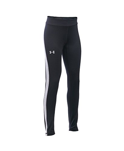 Under Armour Girls' ColdGear Armour Leggings, Black (001), Youth Small