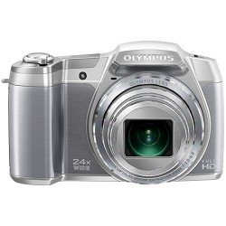 Olympus Stylus SZ-16 iHS Digital Camera with 24x Optical Zoom and 3-Inch LCD (Silver)