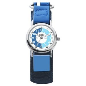 Boys Blue Time Tutor/Teacher Velcro Watch-Reflex