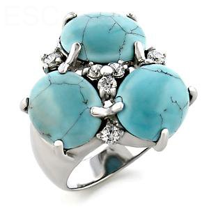 Jewelry - Antique Rome Turquoise CZ Ring SZ 6
