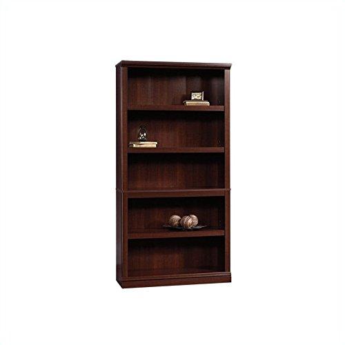 sauder 5 shelf bookcase select cherry finish furniture. Black Bedroom Furniture Sets. Home Design Ideas