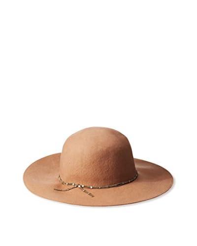 Giovannio Women's Floppy Hat, Toffee/Gold