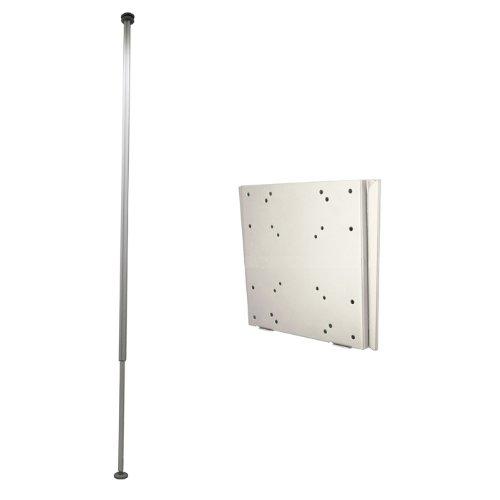 突っ張り棒式テレビ取り付け金具 エアーポール 1本タイプ・角度固定Mサイズ