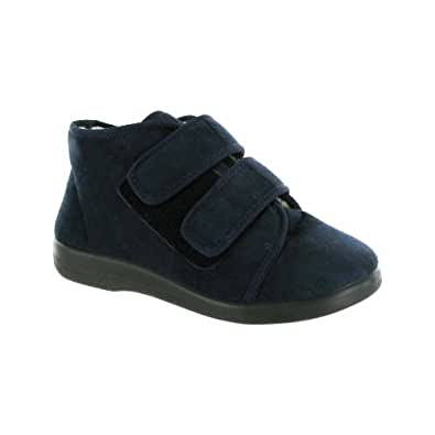 GBS Med Torbay - Chaussons extra larges - Unisexe (36 EUR) (Bleu marine)