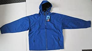 Stearns® Men's Nomad Blue Hooded Rain Jacket Large