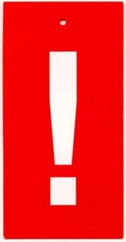 Étiquettes en carton . (1000) aktionsetiketten 58,5 x 116 mm