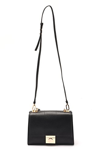 26f0aa14b4 Versace Collections Women Pebbled Leather Crossbody Clutch Handbag Black