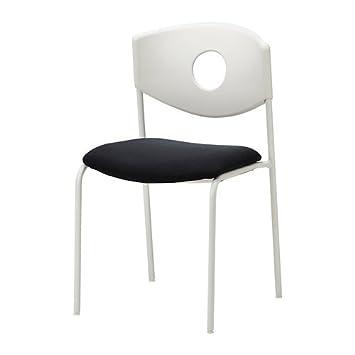 IKEA STOLJAN Konferenzstuhl, weiß, Stoff schwarz vmwicxcu 63