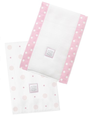 Swaddledesigns Baby Burpies, Big Dot Little Dot (Set Of 2 In Pink)
