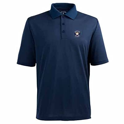 Antigua Men's Houston Astros Pique Xtra-Lite Desert Dry Moisture Management Polo