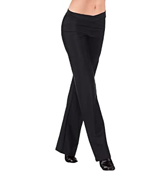 Adult V-Front Jazz Pant,D5107BLKS,Black,Small