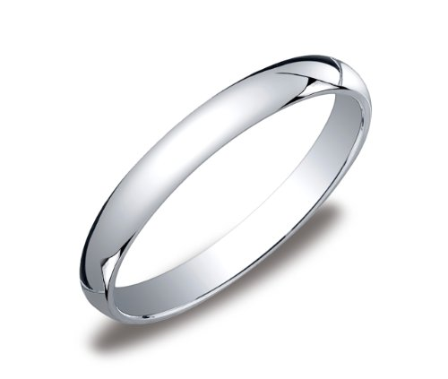 Women's 10k White Gold 3mm Traditional Plain Wedding Band