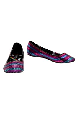 Iron Fist Rainbow Sequined Flats Size : 11