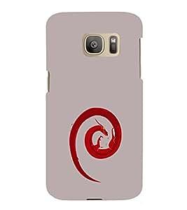 EPICCASE Dragon fire Mobile Back Case Cover For Samsung Galaxy S7 Edge (Designer Case)