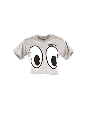 Follow Us FUD846 T-shirt Donna Grigio M