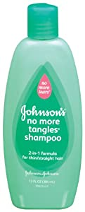 Johnson's Baby Shampoo No More Tangles Shampoo, 2-in-1 Formula, Thin/Straight hair, 13  Ounce (Pack of 2)