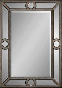 Ren-Wil Mt1019 Avignon Silver Leaf Metal Frame Mirror front-719381