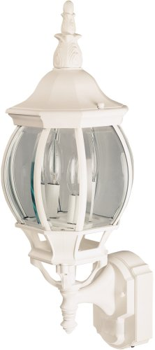 Buy Heath Zenith Oversize Motion-Activated Eight-Sided Lantern White, with Curved Glass #SL-4197-WH